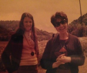 Mom and me in Germany, 1973. Egads, is that fashion?